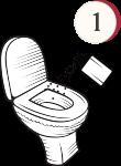 Aplicar o bloqueador de odores no vaso sanitário