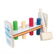 Brinquedo Bate Martelo - Madeira - 5 peças