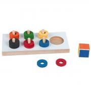 Brinquedo Educacional Pedagógico - Jogo Das Cores - 19 peças