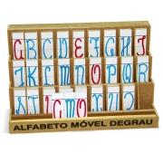 Brinquedo Educativo Alfabeto Móvel Degrau de MDF - 130 peças