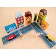 Brinquedo Educativo Blocos De Montar Cidade 209