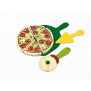 Brinquedo Educativo Comidinhas De Madeira - Kit Pizza