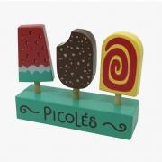 Brinquedo Educativo Comidinhas De Madeira - Picolé