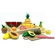 Brinquedo Educativo Comidinhas Kit Frutinhas com corte-14PÇS