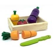 Brinquedo Educativo Comidinhas Kit Legumes com corte- 6 peças