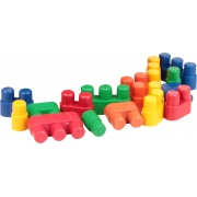 Brinquedo Educativo Conectando Formas - 80 peças