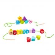 Brinquedo Educativo Lúdico Blocos de Laço - Lagarta Números e Formas