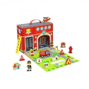 Brinquedo Educativo Lúdico Caixa Divertida Bombeiro MDF