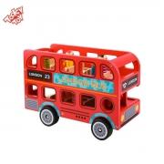 Brinquedo Educativo Lúdico Madeira Ônibus Londres