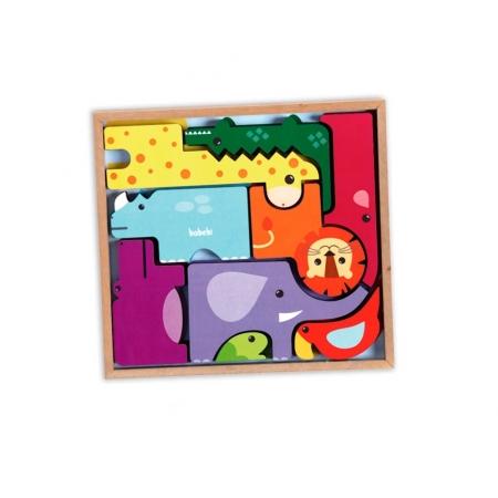 Brinquedo Educativo Montessori Monte E Empilhe Safari