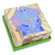 Brinquedo Educativo -Quebra Cabeça Cubo Animais