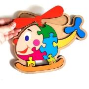 Brinquedo Educativo Quebra-Cabeça Infantil - Helicóptero