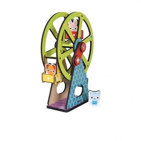 Brinquedo Educativo Roda Gigante Cores E Números MDF