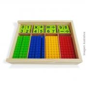 Brinquedo Pedagógico Jogo de Matemática Aprendendo Operações