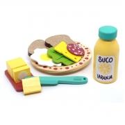 Brinquedo Montessori Comidinhas Kit Lanche