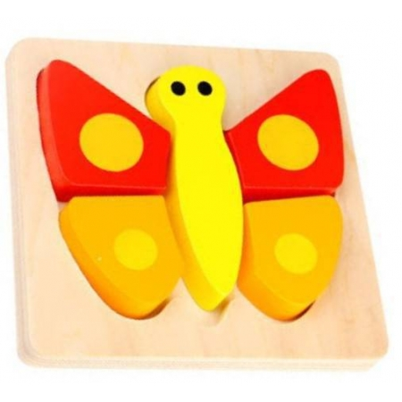 Brinquedo Montessori Mini Encaixe - Borboleta