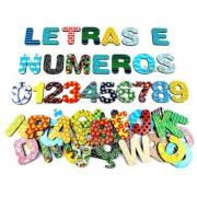 Coleção Letras E Numeros Imã Geladeira E Lousa Montessori 3cm