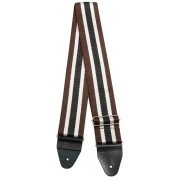 Correia Soft Case Nylon 5cm Listras Preto/marron/branco
