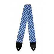 Correia Soft Case Xadrez 5cm Branco com Azul Royal