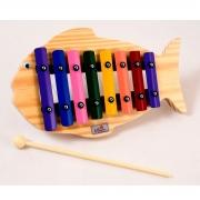 Instrumento Musical Infantil Metalofone Peixe