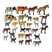 Kit Animais Fazendinha Borracha - 10 Animais Variados