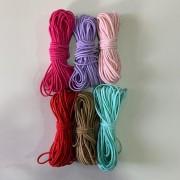 Kit Elástico Roliço 2 mm a 2,5 mm 6 cores