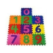 Tapete Infantil Educativo EVA Tatame Térmico - Números 10 peças Ideal para Bebê e Criança