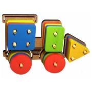 Trem Pedagógico Colorido - Formas Geométricas