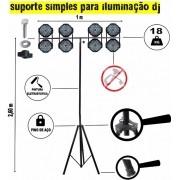 Tripe Iluminação DJ Uma Haste + Bag de Brinde