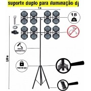 Tripe Iluminação DJ Duas Hastes + Bag de Brinde