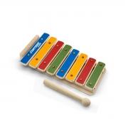 Xilofone Infantil Kids 8 Notas Mdf Colorido Com Baquetas