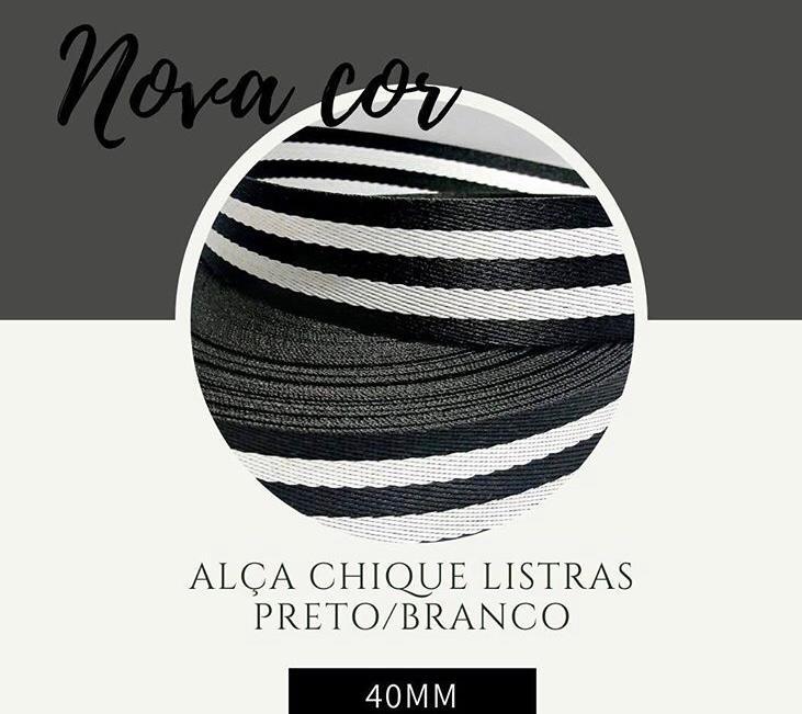 Alça Chic Fita Poliéster 40MM Com 25M