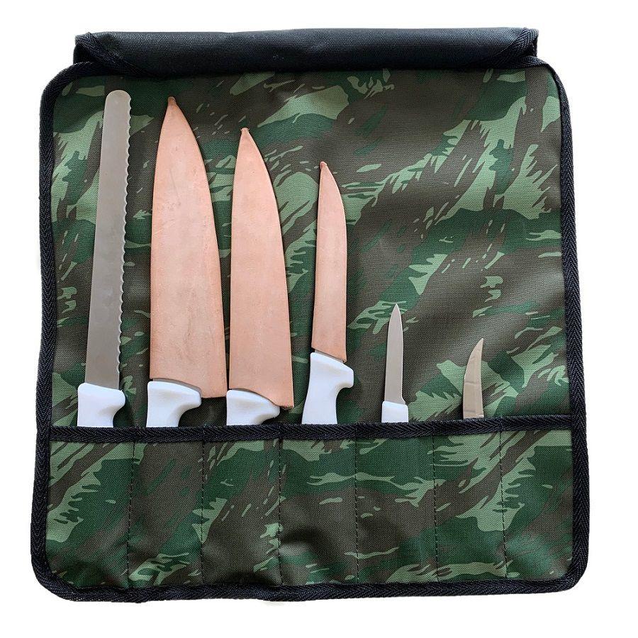 Bolsa Para Facas Professional Cheff Total Bag - Camuflado