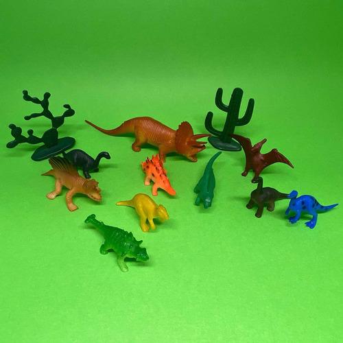 Brinquedo Dinossauro Borracha Miniatura Brinde Festa C/ 10