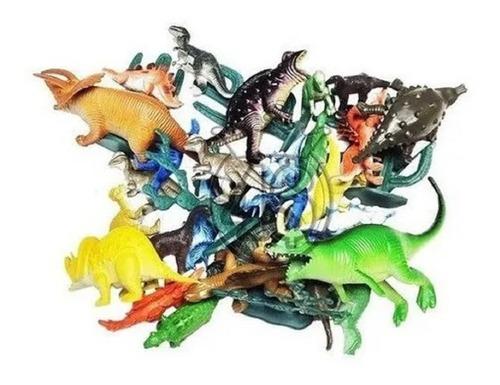 Brinquedo Dinossauro Borracha Miniatura Brinde Festa C/ 30