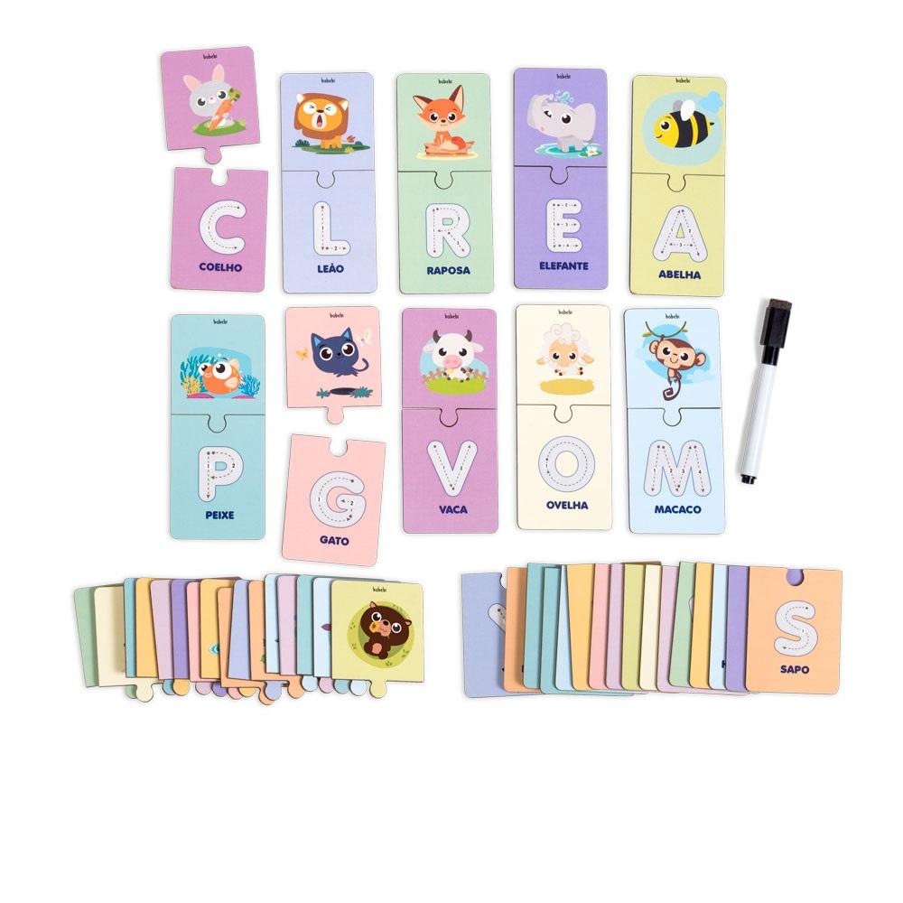 Brinquedo Educativo Alfabeto Ilustrado Escreva E Apague