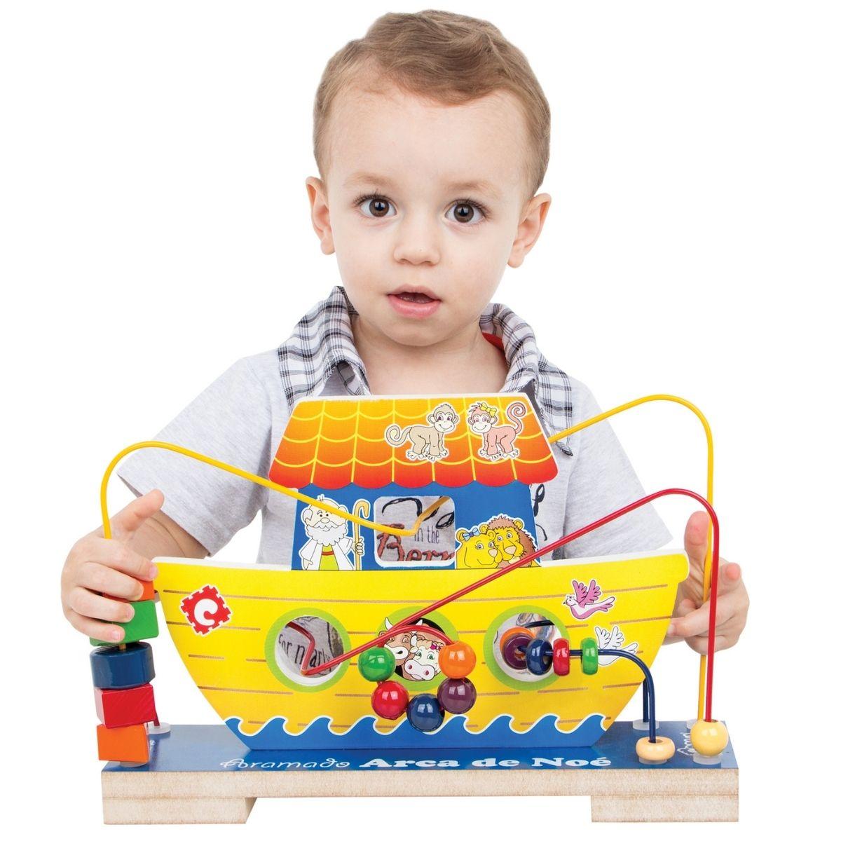 Brinquedo Educativo Aramado Arca de Noé Montessori