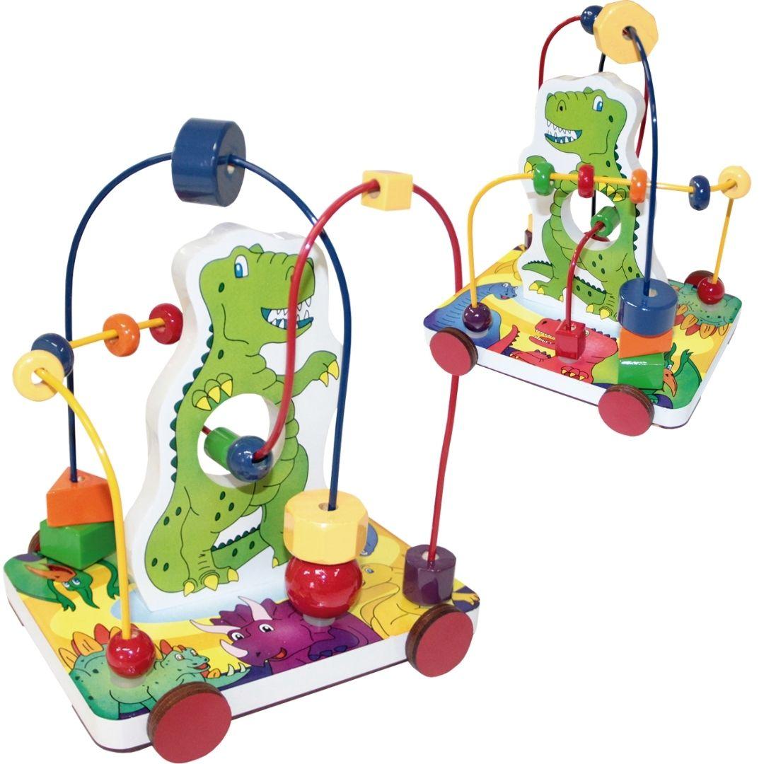 Brinquedo Educativo Aramado Dinossauro - Carrinho Bebê