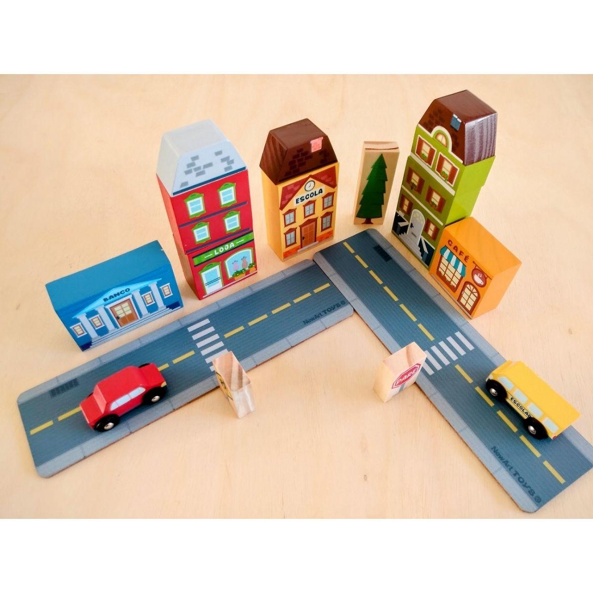 Brinquedo Educativo Blocos De Montar Cidade 210