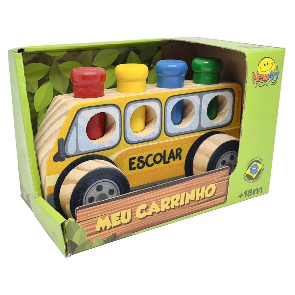 Brinquedo Educativo Bondinho Escolar de Encaixe
