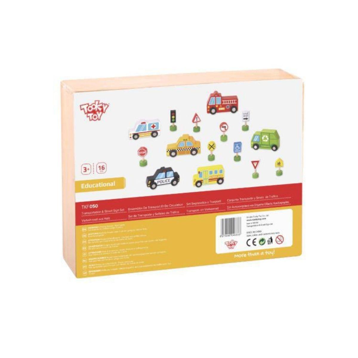Brinquedo Educativo Carrinhos e Placas de Trânsito