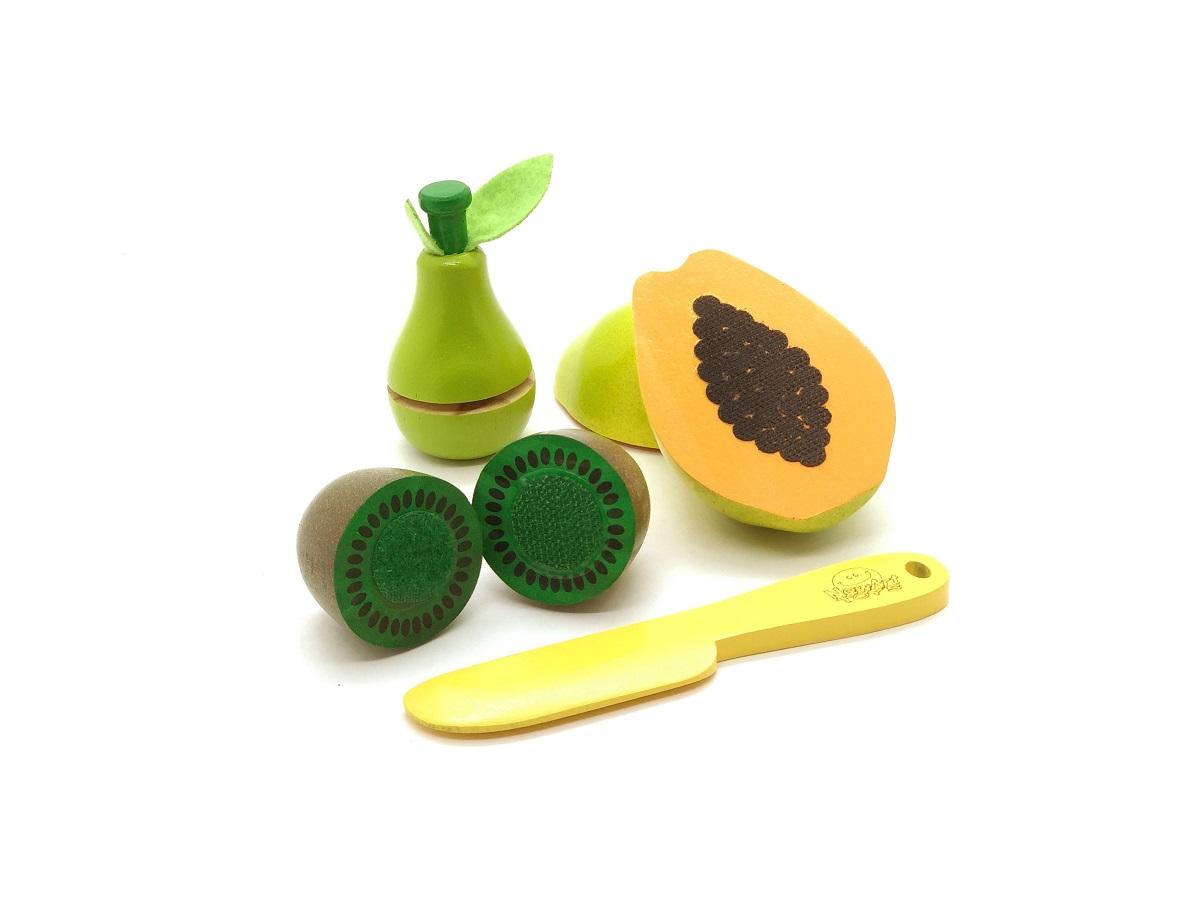 Brinquedo Educativo Comidinhas Mamão, Pera, Kiwi