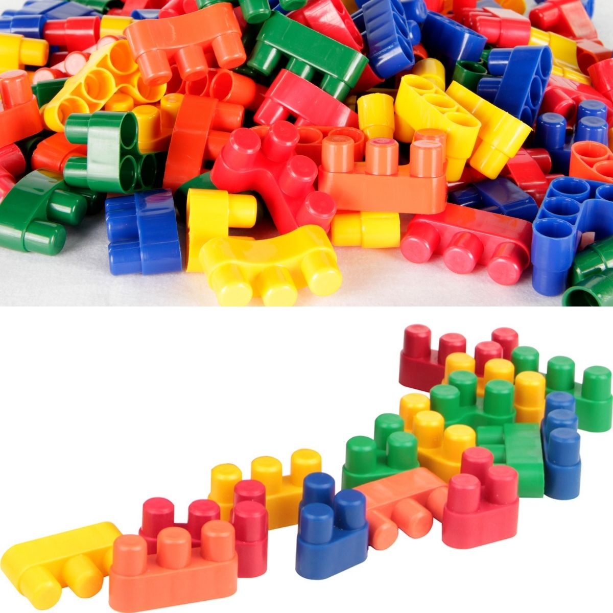 Brinquedo Educativo Conectando Formas - 150 peças