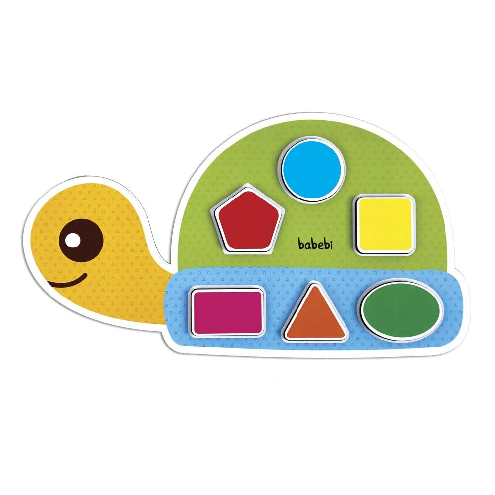 Brinquedo Educativo Encaixa Figuras Geométricas Da Tartaruga