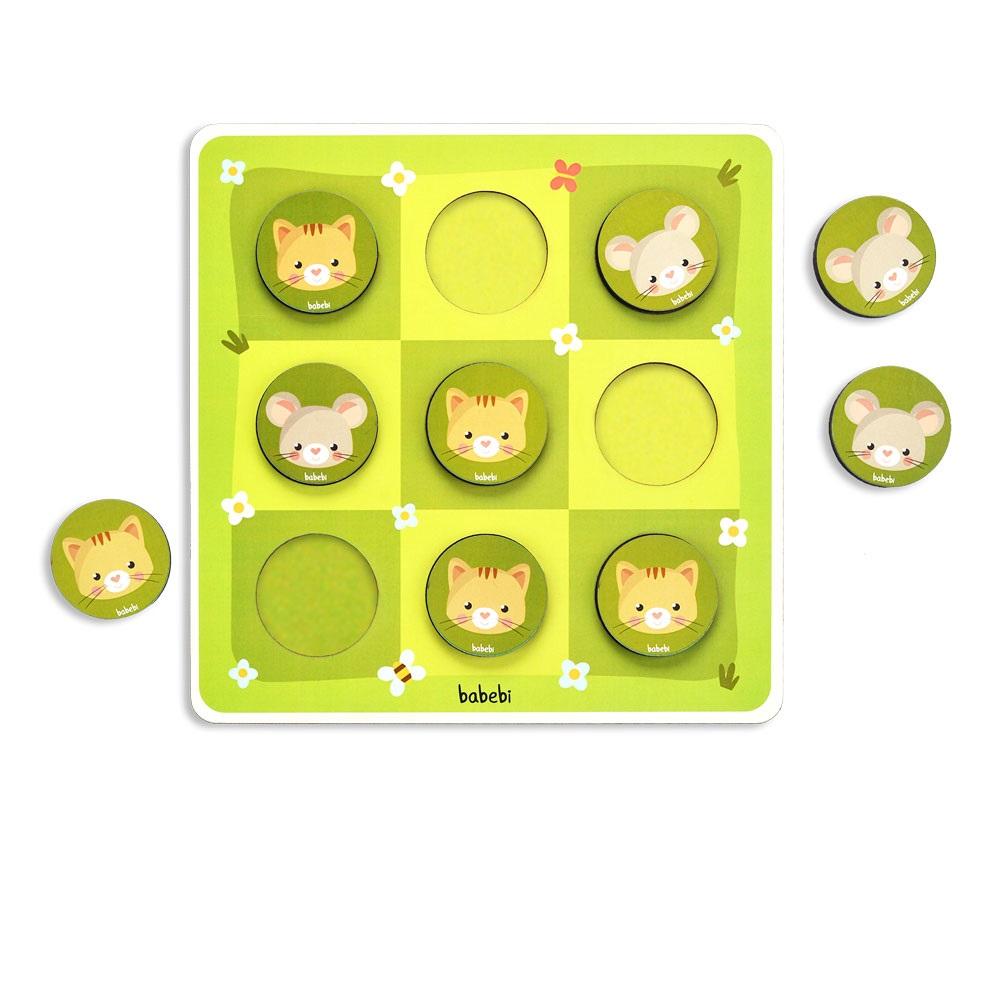 Brinquedo Educativo Joga Da Velha Entre Gato E Rato