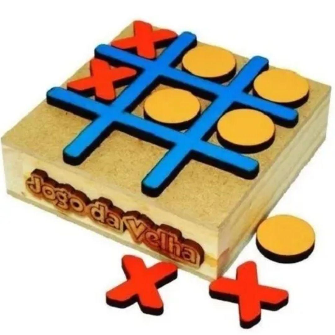 Brinquedo Educativo Pedagógico Jogo da Velha Caixa