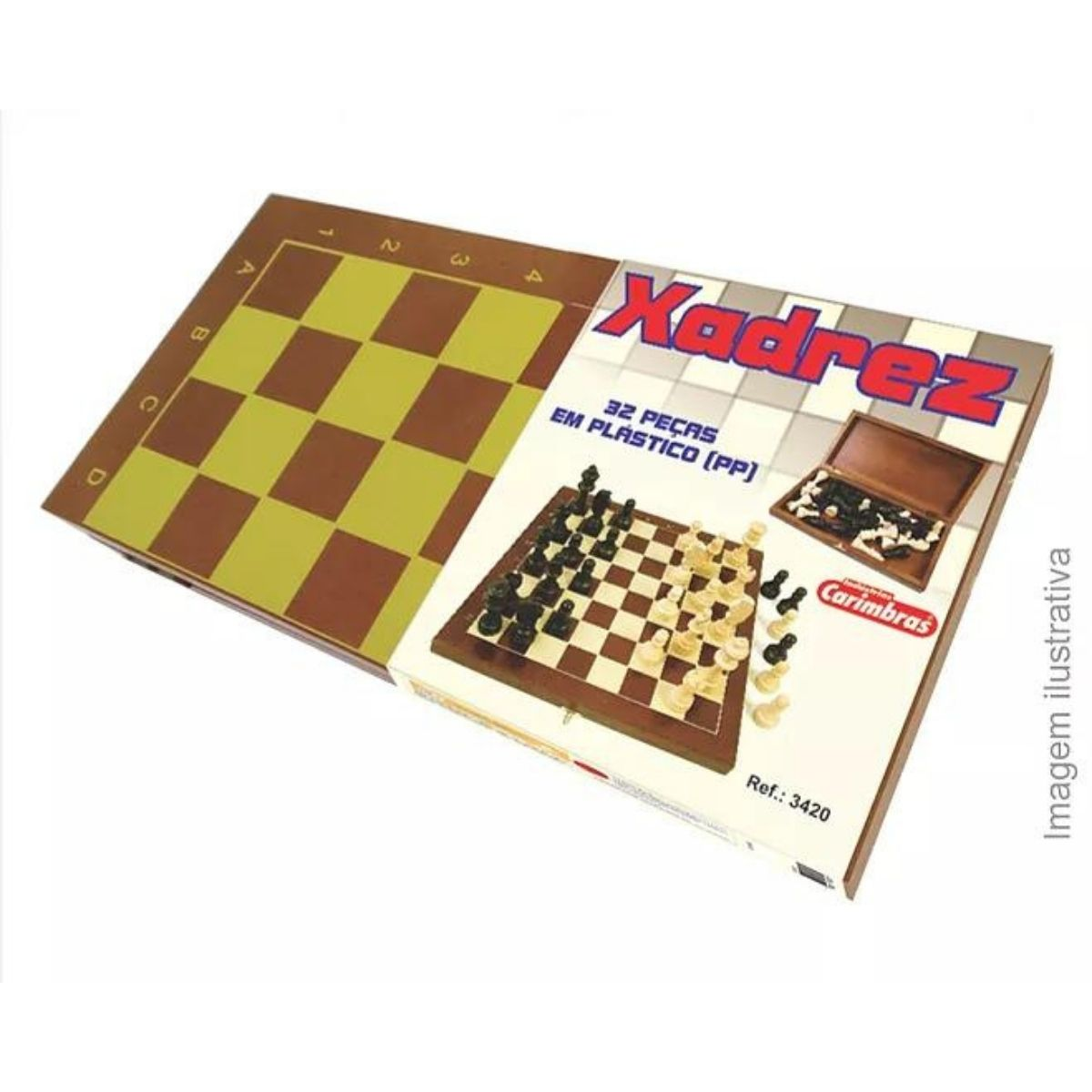 Brinquedo Educativo Jogo de Xadrez cx