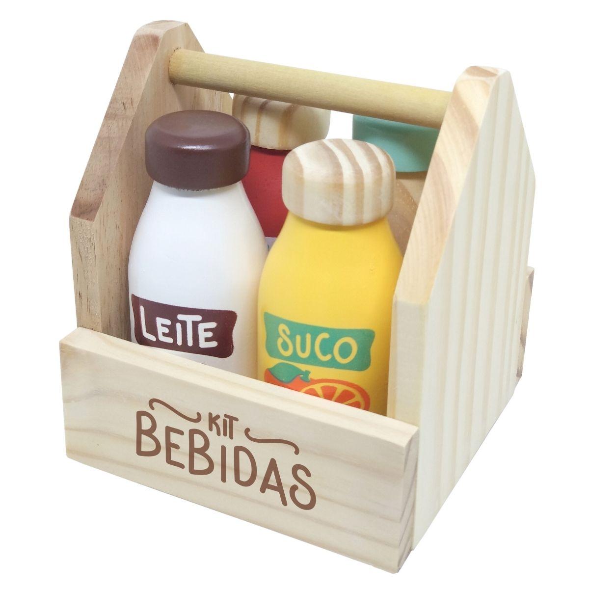 Brinquedo Educativo Kit  Bebidas 5 PÇ