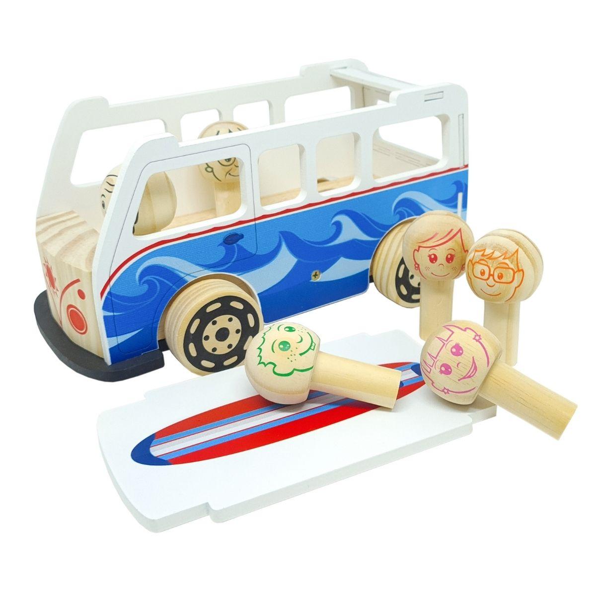 Brinquedo Educativo  Kombi Retro