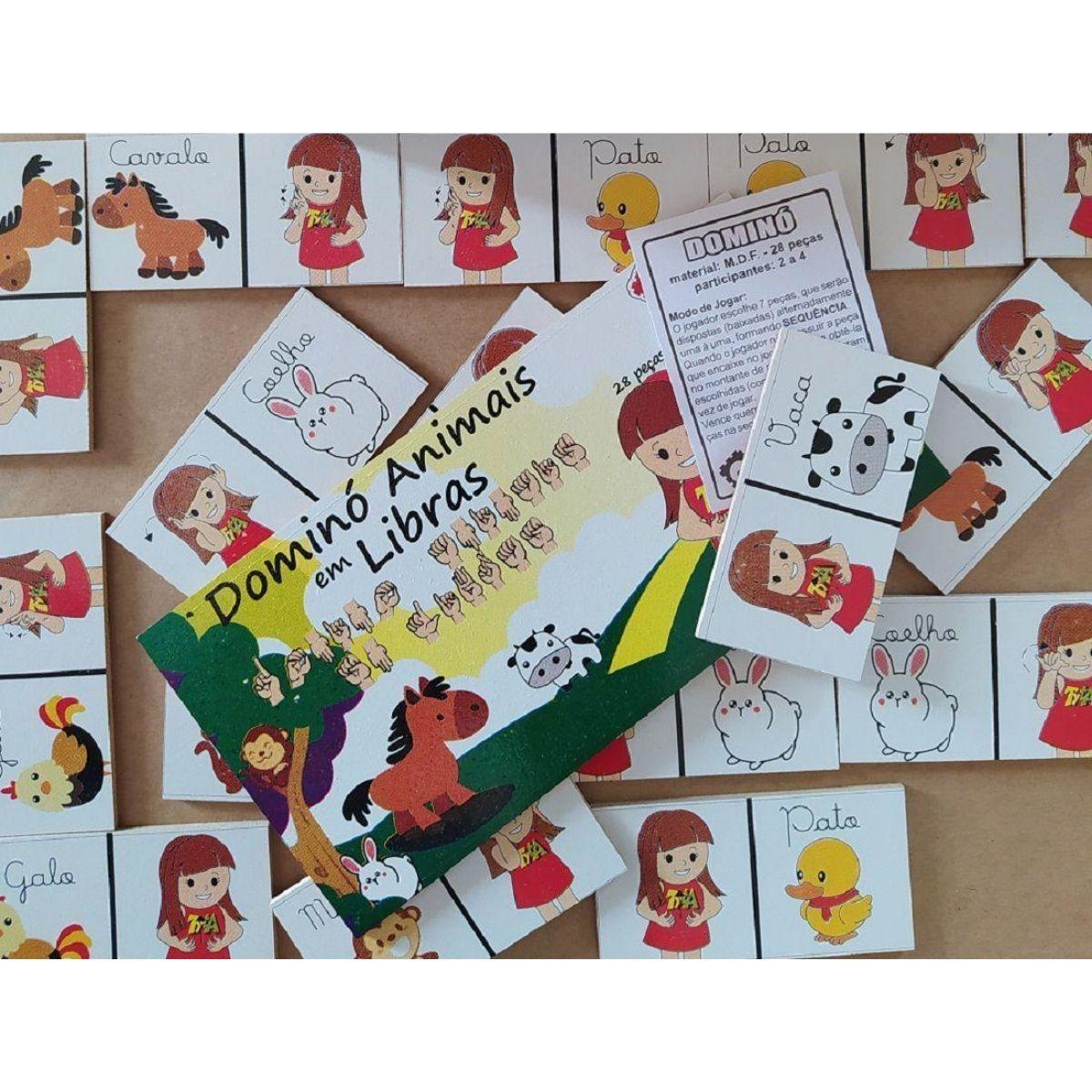 Brinquedo Educativo Libras - Alfabeto Encaixe